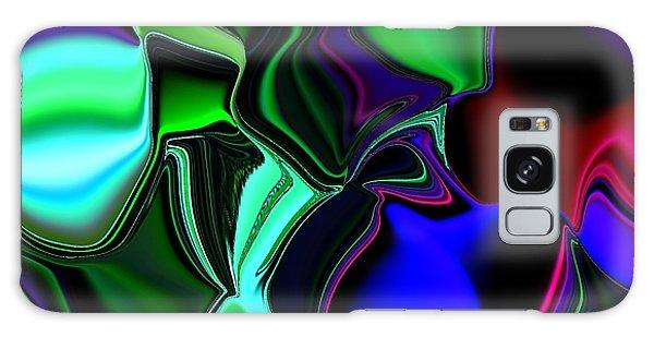 Green Nite Distortions 4 Galaxy Case
