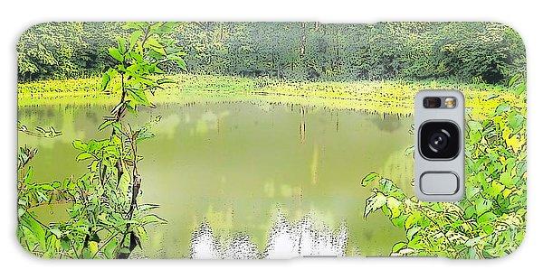 Green On Lake Galaxy Case