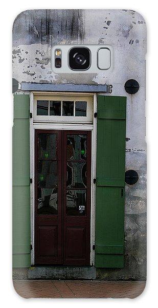 Green On Stucco Galaxy Case
