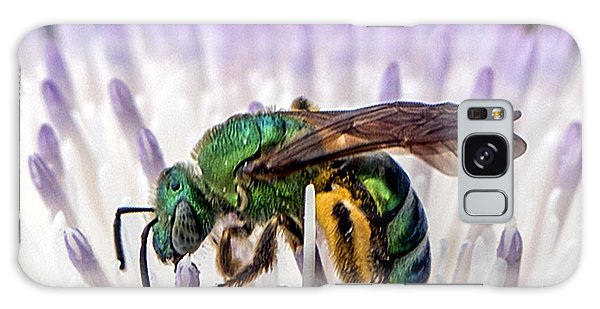 Green Orchid Bee Galaxy Case