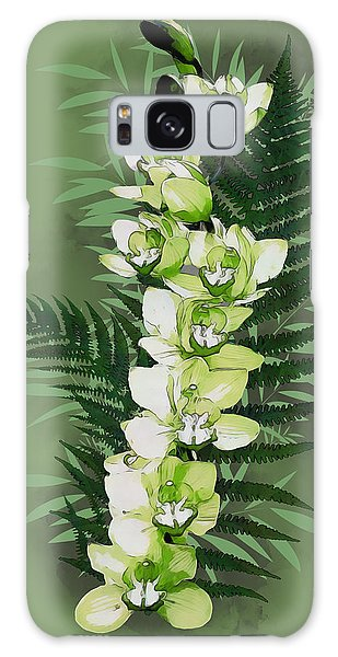 Green Orchid Galaxy Case