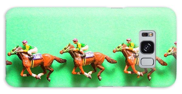 Race Galaxy Case - Green Paper Racecourse by Jorgo Photography - Wall Art Gallery