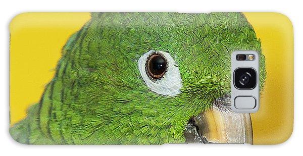 Green Parrot Head Shot Galaxy Case