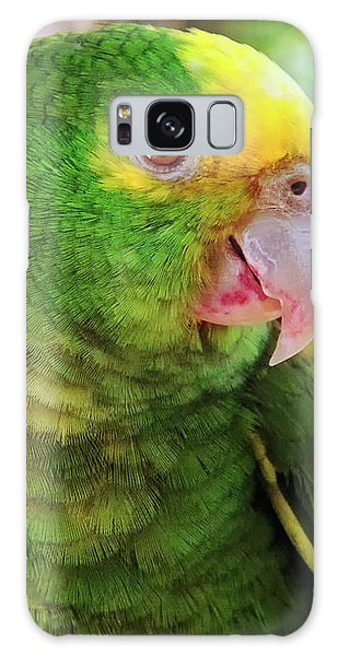 Green Parrot Galaxy Case