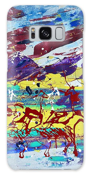 Green Pastures And Purple Mountains Galaxy Case