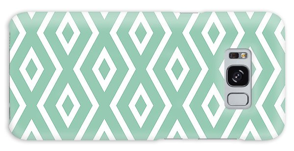 Interior Galaxy Case - Light Sage Green Pattern by Christina Rollo