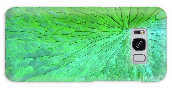 Green Pattern Under The Microscope Galaxy Case