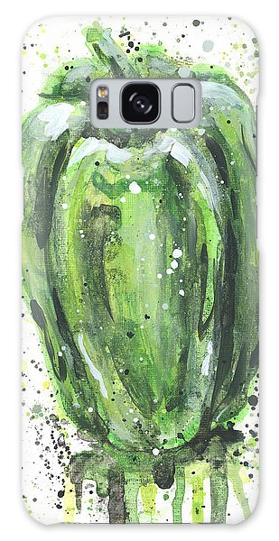 Green Pepper Galaxy Case