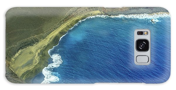 Green Sand Beach Aerial Galaxy Case