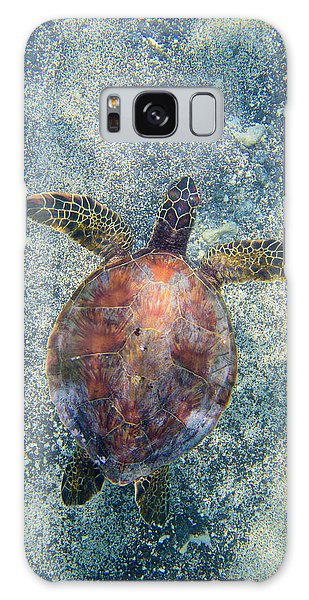 Turtle Galaxy Case - Green Sea Turtle From Above by Christopher Johnson