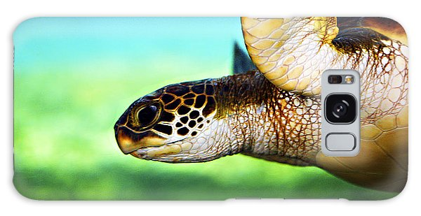 Green Sea Turtle Galaxy Case