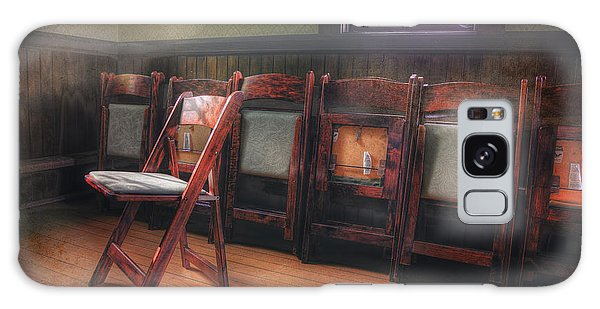 Green Seat Chair # 2 Galaxy Case by Craig J Satterlee