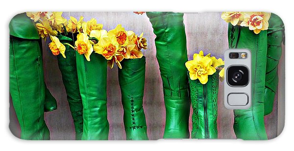 Green Shoes For Yellow Spring Flowers Galaxy Case