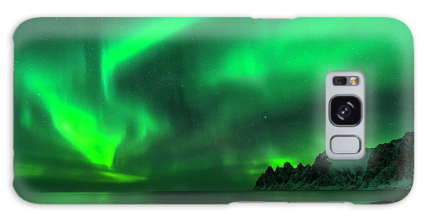 Green Skies At Night Galaxy Case