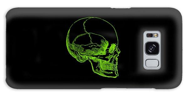Galaxy Case featuring the digital art Green Skull by Jennifer Hotai