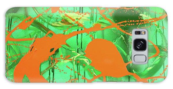 Green Spill Galaxy Case