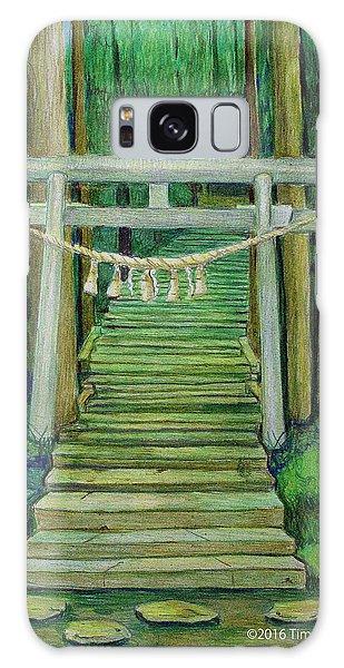 Green Stairway Galaxy Case by Tim Ernst