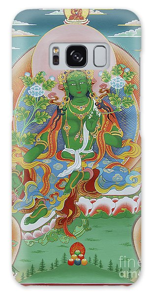 Green Tara With Retinue Galaxy Case