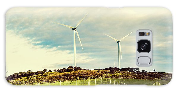 Wind Power Galaxy Case - Green Tasmania by Jorgo Photography - Wall Art Gallery