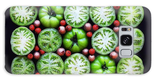 Green Tomato Slice Pattern Galaxy Case
