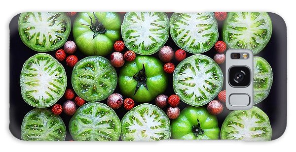 Green Tomato Slice Pattern Galaxy Case