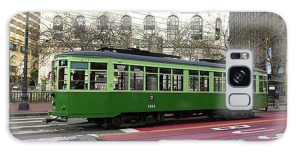 Green Trolley Galaxy Case by Steven Spak