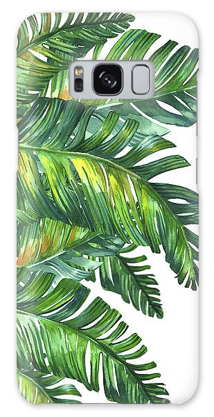Vector Galaxy Case - Green Tropic  by Mark Ashkenazi