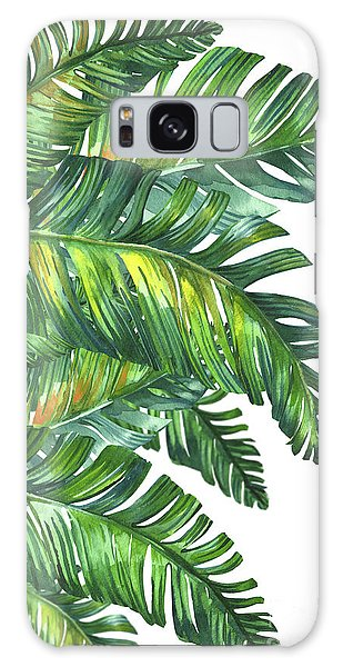 Galaxy Case - Green Tropic  by Mark Ashkenazi