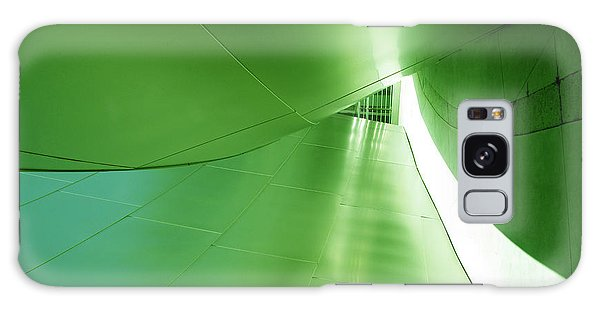 Galaxy Case featuring the photograph Green Tunnel. Los Angeles Series. by Ausra Huntington nee Paulauskaite