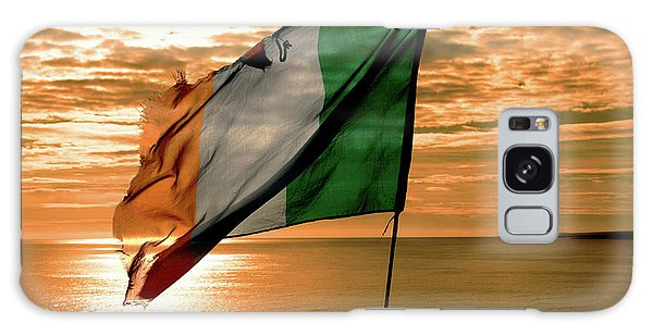 Flag Of Ireland At The Cliffs Of Moher Galaxy Case