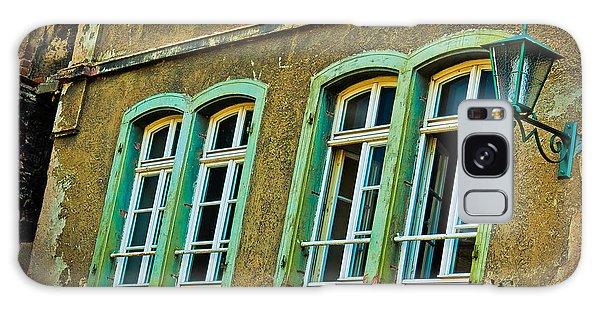 Green Windows Galaxy Case by Jill Smith