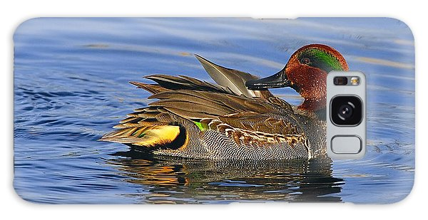 Green-winged Teal Galaxy Case