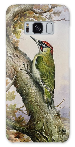 Green Woodpecker Galaxy Case by Carl Donner