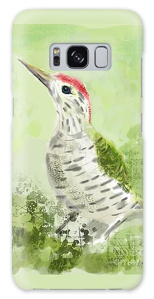 Green Woodpecker Galaxy Case