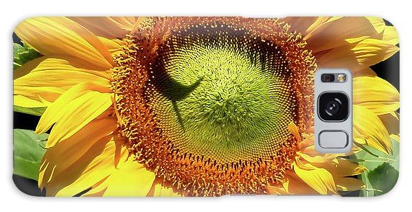 Greenburst Sunflower Galaxy Case by Rona Black