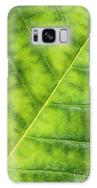 Green Leaf Galaxy Case - Greenleaf by Evelina Kremsdorf