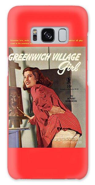 Greenwich Village Girl Galaxy Case