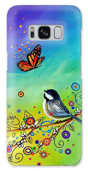 Chickadee Galaxy S8 Case - Greetings by Cindy Thornton