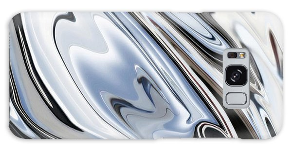 Grey And Black Metal Marbling Effect Abstract Galaxy Case