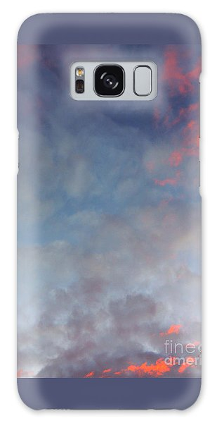 Pink Flecked Sky Galaxy Case by Linda Hollis