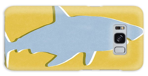 Sharks Galaxy Case - Grey And Yellow Shark by Linda Woods