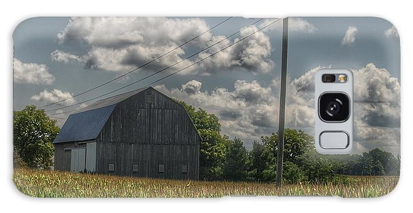 0013 - Grey Barn In A Cornfield Galaxy Case