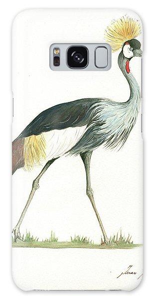 Crane Galaxy S8 Case - Grey Crowned Crane by Juan Bosco