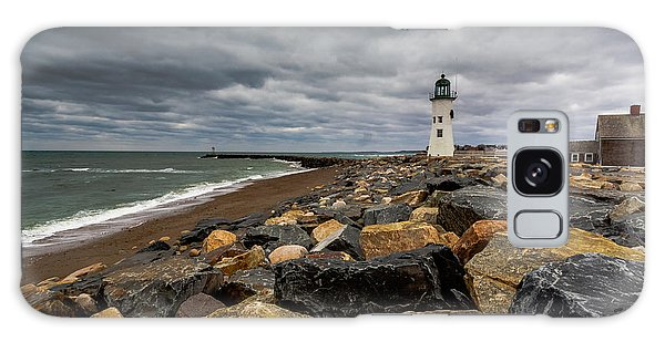 Grey Day At Scituate Lighthouse Galaxy Case