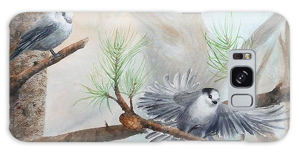 Grey Jays In A Jack Pine Galaxy Case