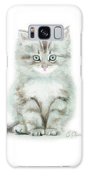 Grey Kitten Galaxy Case