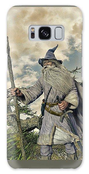 Grey Wizard II Galaxy Case by Dave Luebbert