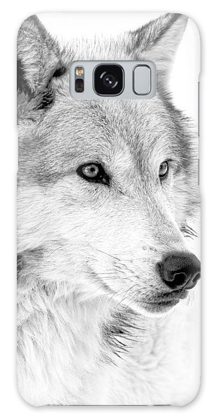 Grey Wolf Profile Galaxy Case by Athena Mckinzie
