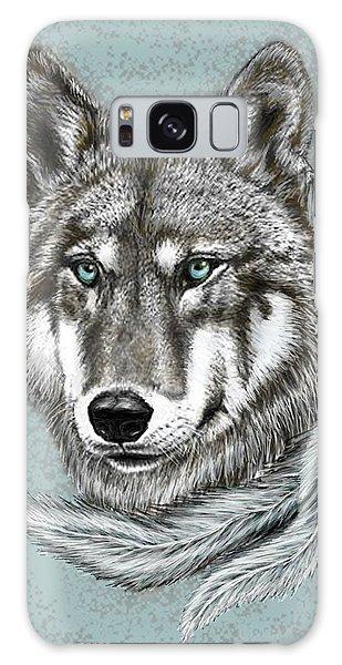 Grey Wolf Galaxy Case