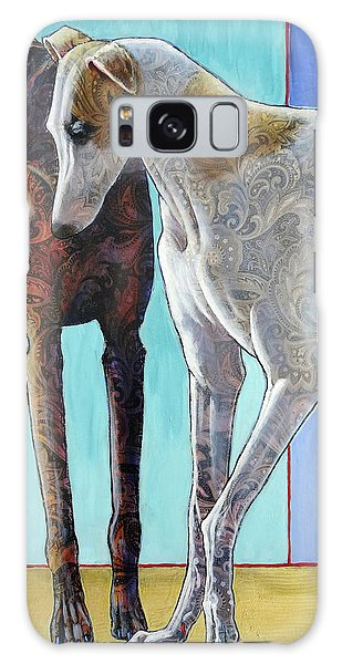 Sighthound Galaxy Case - Paisley Paws De Deux by Ande Hall